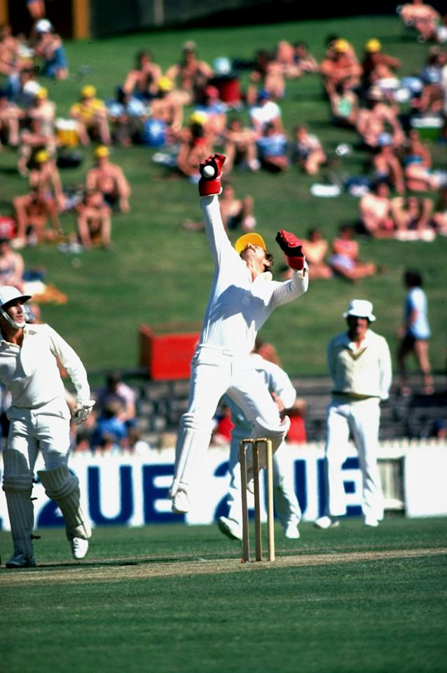 Nov 1979:  Australian wicket keeper Rodney Marsh in action during a match in Sydney, Australia. \ Mandatory Credit: Adrian  Murrell/Allsport