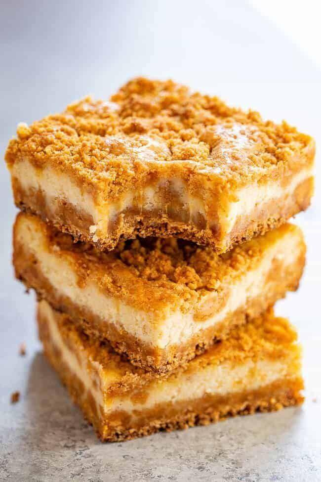 "<a href=""https://www.averiecooks.com/butterscotch-graham-cracker-cheesecake-bars/"" rel=""nofollow noopener"" target=""_blank"" data-ylk=""slk:Get the Butterscotch Graham Cracker Cheesecake Bars recipe from Averie Cooks"" class=""link rapid-noclick-resp""><strong>Get the Butterscotch Graham Cracker Cheesecake Bars recipe from Averie Cooks</strong></a>"