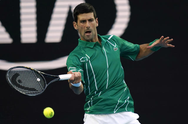 Serbia's Novak Djokovic. (AP Photo/Lee Jin-man)
