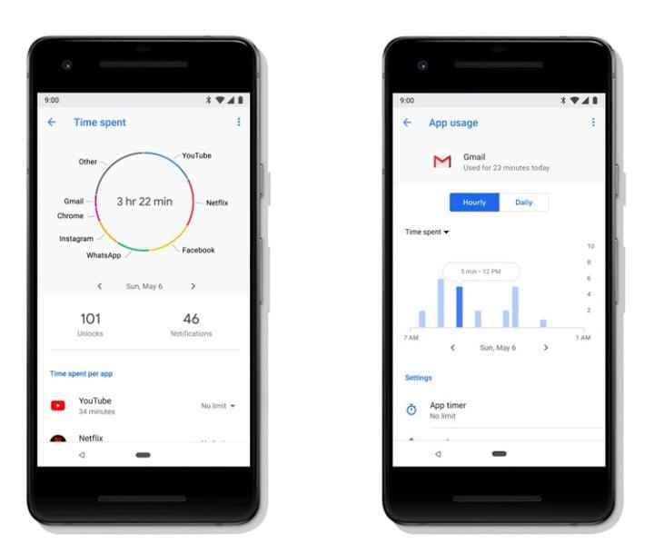 apple screen time and google digital wellbeing dashboard