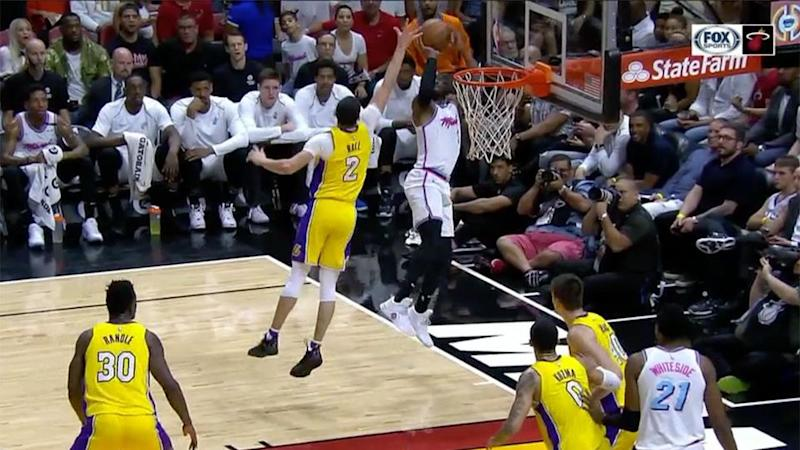 How did Wade make this shot? Source: Fox Sports