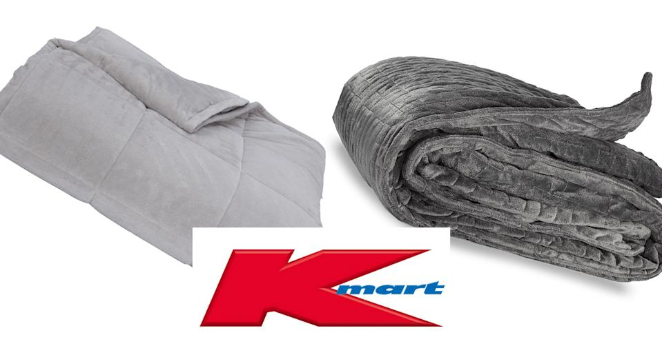 Kmart's $49 dupe of popular $299 weighted blanket