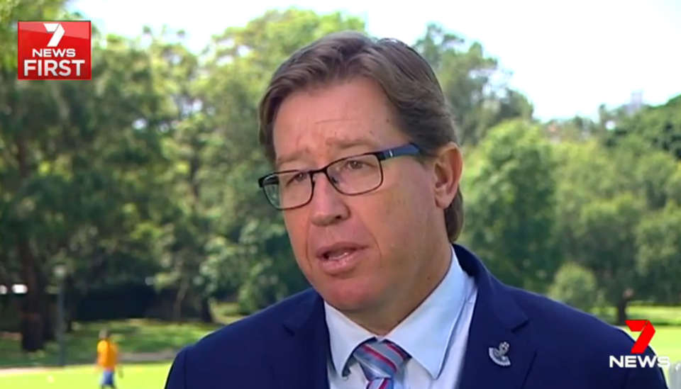 NSW Police Minister Troy Grant has spoken out against the violent game depicting NSW Police officers. Photo: 7 News