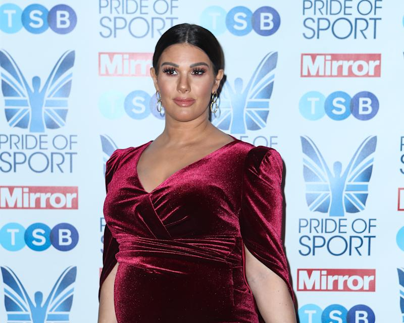 LONDON, ENGLAND - DECEMBER 05: Rebekah Vardy attends the Pride Of Sport Awards 2019 at Grosvenor House on December 05, 2019 in London, England. (Photo by John Rainford/Getty Images)