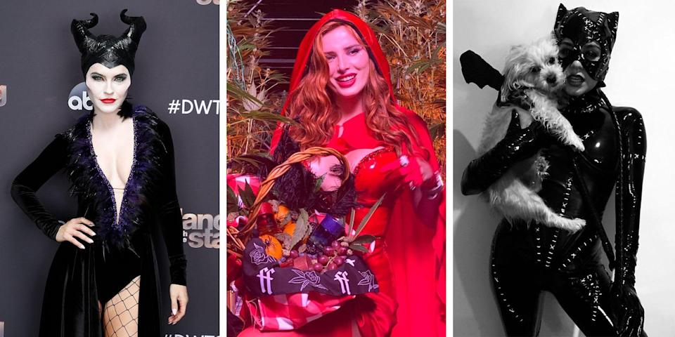 <p>The coronavirus pandemic may have canceled most big celebrity Halloween parties, but celebrities haven't given up on the holiday entirely—or on going all out with their costumes. From Vanessa Hudgens' many Halloween costume shots posted to her Instagram throughout October to <em>Selling Sunset</em>'s Chrishell Stause getting decked out as Maleficent for <em>Dancing With the Stars</em>' Halloween episode, here are the best costumes from this year's very different spooky season.</p>