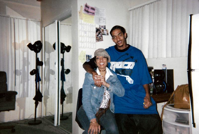Nipsey with his Mom.