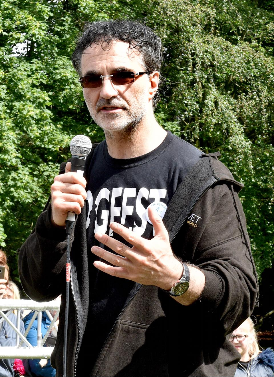 Noel Fitzpatrick had fitted the tortoise with bionic limbs. (Photo by Shirlaine Forrest/Getty Images)