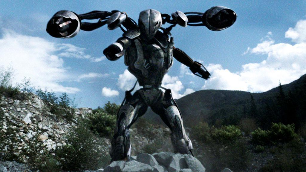 "A Mega Mech in the ""Falling Skies"" Season 3 Premiere, ""On Thin Ice."""