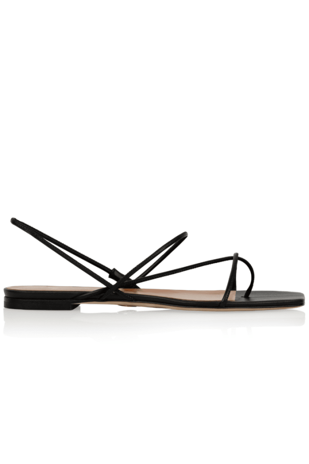 """<p><strong>Brother Vellies Trieste Sandal, $285, <a href=""""https://brothervellies.com/collections/sandals/products/trieste-sandal"""" rel=""""nofollow noopener"""" target=""""_blank"""" data-ylk=""""slk:available here"""" class=""""link rapid-noclick-resp"""">available here</a>:</strong> """"I fell in love with these barely-there strappy sandals the second I saw them on Instagram. They're such a timeless, classic take on the naked sandal trend from the past few years."""" —Stephanie Saltzman, Beauty Director </p>"""