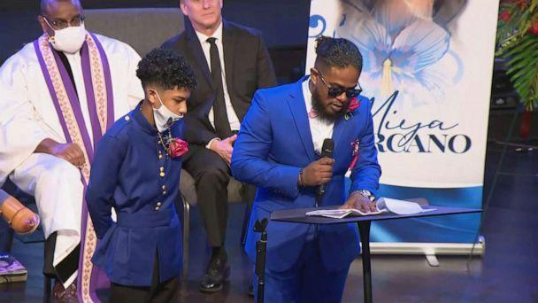 PHOTO: Speaking at Miya Marcano's funeral service in Cooper City, Fla., her uncle Marvin, said, 'My niece did not deserve this. Nor does any woman for that matter.' (WPLG)