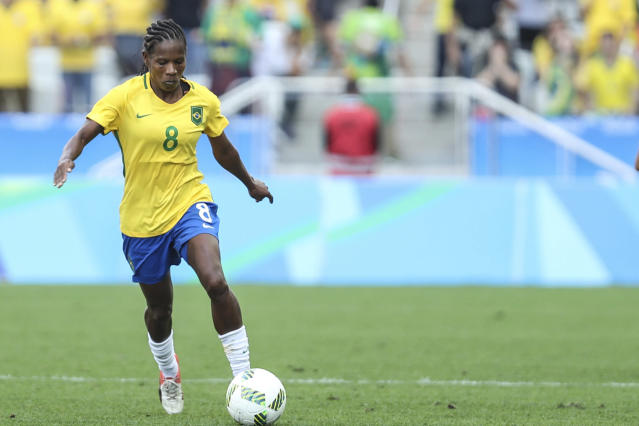 Formiga could become the first player to appear in seven World Cups. (Photo by Vanessa Carvalho/Brazil Photo Press/LatinContent/Getty Images)