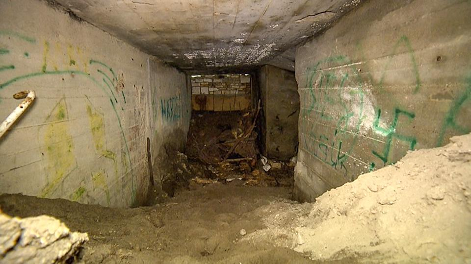 The bunker where Bianca Simon, 26, was found dead. Source: Newsflash/Australscope