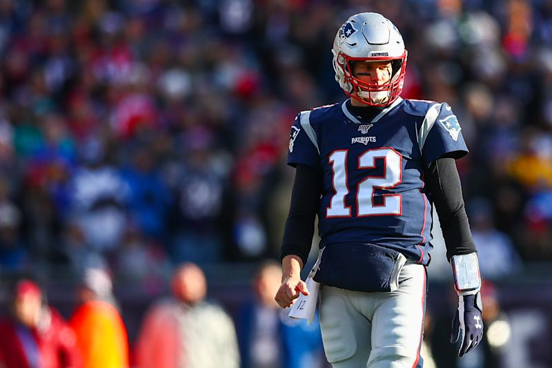 We'll get a rare sight next weekend: Tom Brady on wild-card weekend. (Photo by Adam Glanzman/Getty Images)