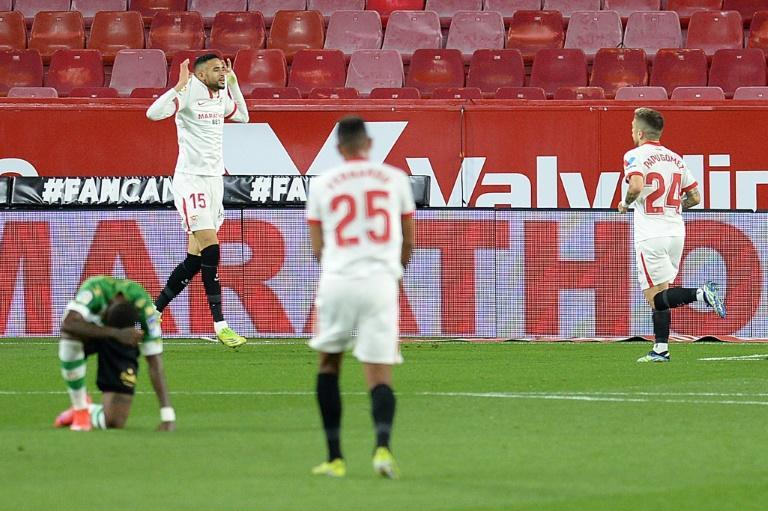 En-Nesyri (L) celebrates what proved to be the winning goal