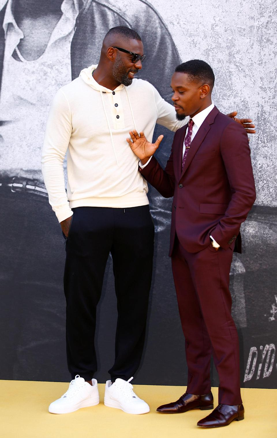 Director Idris Elba and cast member Aml Ameen attend the film premiere of 'Yardie' at the BFI Southbank, London, Britain August 21 2018. REUTERS/Henry Nicholls