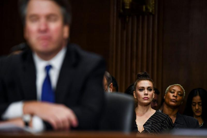 Alyssa Milano at the Kavanaugh hearing