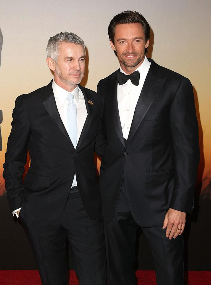 """<a href=""""http://movies.yahoo.com/movie/contributor/1800026871"""">Baz Luhrmann</a> and <a href=""""http://movies.yahoo.com/movie/contributor/1800354816"""">Hugh Jackman</a> at the MoMa Film benefit gala honoring Baz Luhrmann in New York - 11/10/2008"""