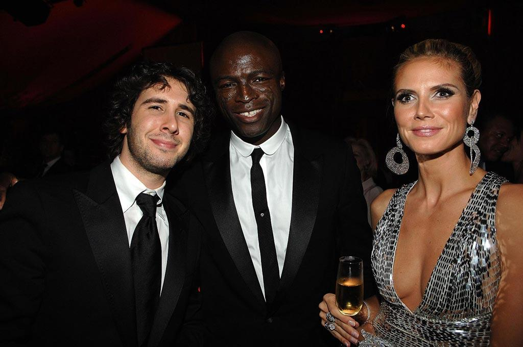 "<a href=""http://movies.yahoo.com/movie/contributor/1804719087"">Josh Groban</a> , <a href=""http://movies.yahoo.com/movie/contributor/1800166298"">Seal</a> and <a href=""http://movies.yahoo.com/movie/contributor/1804328244"">Heidi Klum</a> attend the 16th Annual Elton John AIDS Foundation Oscar Party at the Pacific Design Center in West Hollywood - 02/24/2008"