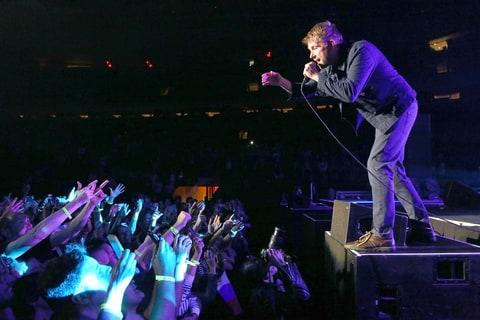 Damon Albarn of Blur performs at Madison Square Garden on October 23, 2015 in New York City.