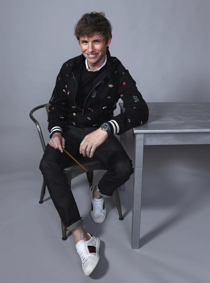 """FILE - Eddie Redmayne poses for a portrait to promote the film """"Fantastic Beasts: The Crimes of Grindelwald"""" on day three of Comic-Con International on July 21, 2018, in San Diego. Redmayne turns 39 on Jan. 6. (Photo by Rebecca Cabage/Invision/AP, File)"""