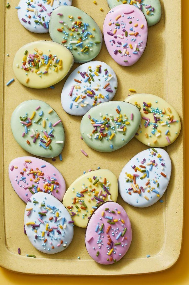 """<p>These beautiful pastel sugar cookies are perfect to celebrate the season.</p><p><em><a href=""""https://www.goodhousekeeping.com/food-recipes/dessert/a30933253/easter-egg-cookie-recipe/"""" rel=""""nofollow noopener"""" target=""""_blank"""" data-ylk=""""slk:Get the recipe for Easter Egg Cookies »"""" class=""""link rapid-noclick-resp"""">Get the recipe for Easter Egg Cookies »</a></em></p><p><strong>RELATED: </strong><a href=""""https://www.goodhousekeeping.com/food-recipes/dessert/g5078/easter-cookies/"""" rel=""""nofollow noopener"""" target=""""_blank"""" data-ylk=""""slk:24 Sweet Easter Cookies That Bring All the Spring Cheer"""" class=""""link rapid-noclick-resp""""> 24 Sweet Easter Cookies That Bring All the Spring Cheer</a></p>"""