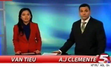 A.J. Clemente as he appeared on KFYR