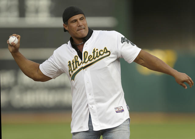 Jose Canseco upgrades political aspirations from chief of staff to president. (AP)