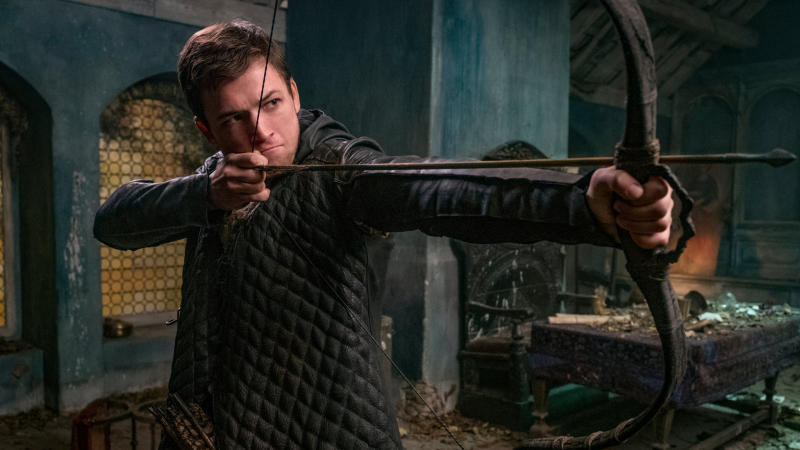 Taron Egerton played the title role in the 2018 reboot of 'Robin Hood'. (Credit: Lionsgate)