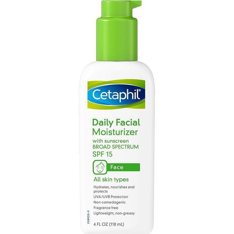 """<p><strong>Cetaphil</strong></p><p>amazon.com</p><p><strong>$11.29</strong></p><p><a href=""""https://www.amazon.com/dp/B01MG4PSK4?tag=syn-yahoo-20&ascsubtag=%5Bartid%7C10051.g.37014835%5Bsrc%7Cyahoo-us"""" rel=""""nofollow noopener"""" target=""""_blank"""" data-ylk=""""slk:Shop Now"""" class=""""link rapid-noclick-resp"""">Shop Now</a></p><p>For times when your skin is so delicate and sensitive you're scared to put anything on it, this SPF and moisturizer combo is the one product you can trust. It'll give a boost of moisture and sun protection without exacerbating any existing problem areas. </p>"""