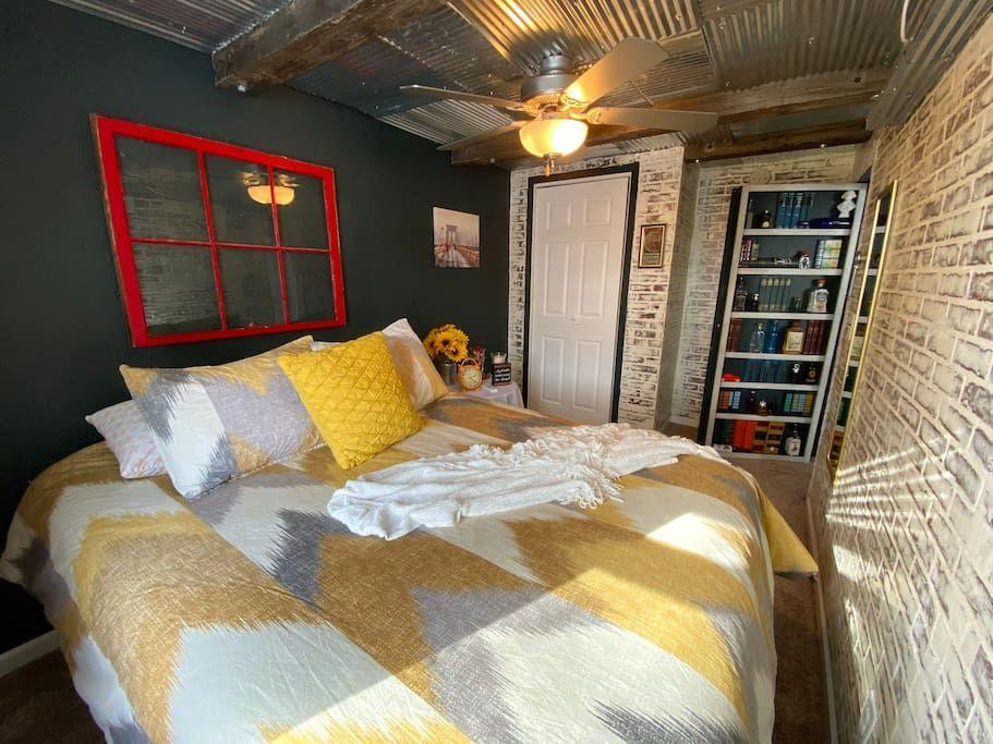 """<p>airbnb.com</p><p><strong>$92.00</strong></p><p><a href=""""https://www.airbnb.com/rooms/45250377"""" rel=""""nofollow noopener"""" target=""""_blank"""" data-ylk=""""slk:BOOK NOW"""" class=""""link rapid-noclick-resp"""">BOOK NOW</a></p><p>Central to Bismarck, this two-bedroom Airbnb is close to shopping and historic buildings for newcomers and veterans to the area. </p><p>Bonus: The nearby airport makes it perfect for post-pandemic travelers!</p>"""