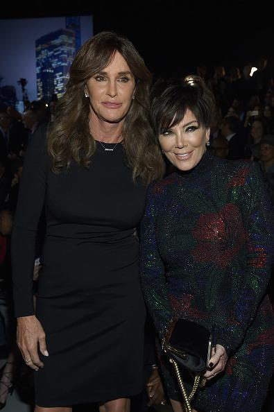 <p>The divorced couple came together to support their daughter Kendall Jenner, who made her first appearance as a Victoria's Secret model. Caitlyn wore a LBB with a sheer back while Kris went for a holiday look in a mini dress covered in sequins and poinsettias. </p>