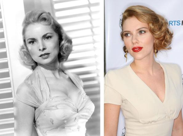 """(FILE PHOTO) In this composite image a comparison has been made between actresses Janet Leigh (L) and Scarlett Johansson. Actress Scarlett Johansson will play actress Janet Leigh in a film biopic about filmmaker Alfred Hitchcock entitled """"Hitchcock."""" ***LEFT IMAGE*** UNSPECIFIED: American actress Janet Leigh (1927 - 2004), circa 1955. (Photo by Silver Screen Collection/Hulton Archive/Getty Images) ***RIGHT IMAGE*** WEST HOLLYWOOD, CA - JULY 23: Actress Scarlett Johansson attends the 13th annual Los Angeles Shorts Festival on July 23, 2009 in West Hollywood, California. (Photo by Frederick M. Brown/Getty Images)"""