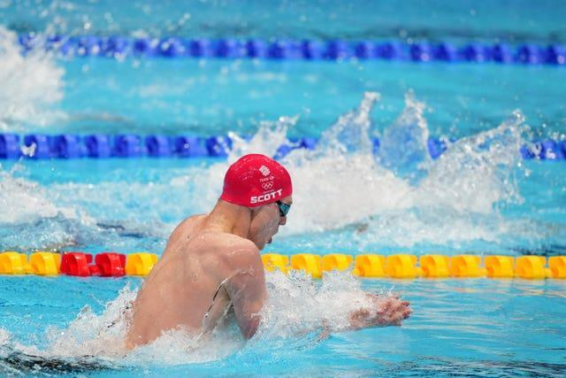 Duncan Scott rose from fifth to second in the final leg of the men's 200m individual medley final (Joe Giddens/PA)