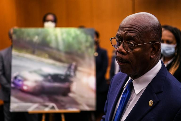 Fulton County District Attorney Paul Howard announced 11 charges against former Atlanta Police Officer Garrett Rolfe for the shooting death of Rayshard Brooks (AFP Photo/CHANDAN KHANNA)