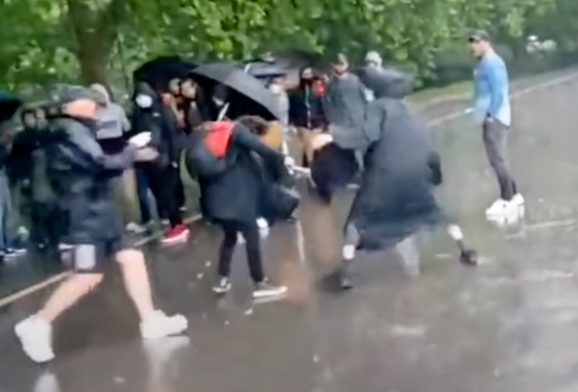 The attack took place at Speakers' Corner in London's Hyde Park. (YouTube)