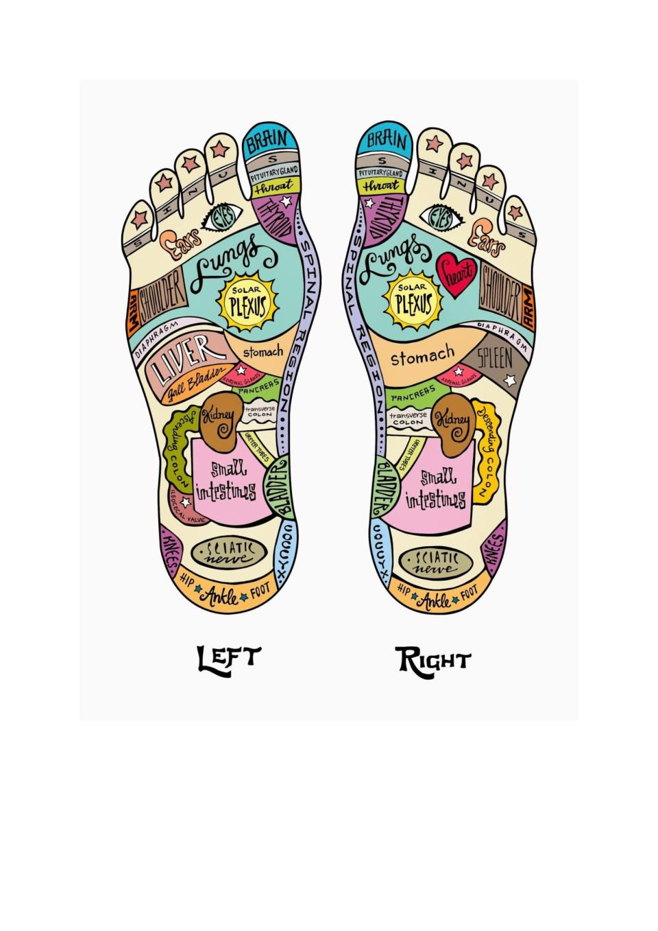 Reflexologist tend to have different takes on the reflexology map (Rupert French)