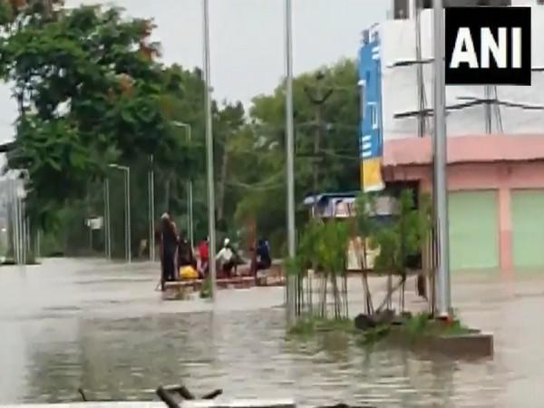 A visual of Nirmal district after heavy rain in Telangana (Photo/ANI)