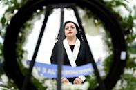 """""""Women have the right to be where they want to be,"""" Vjosa Osmani, Kosovo's second female president, told parliament"""