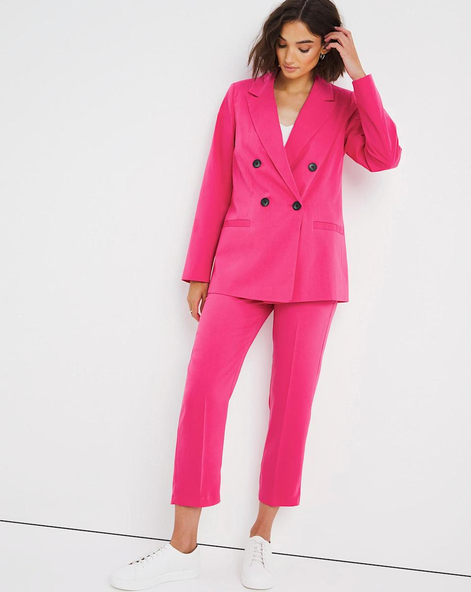 Pink Double Breasted Crepe Blazer (JD Williams)