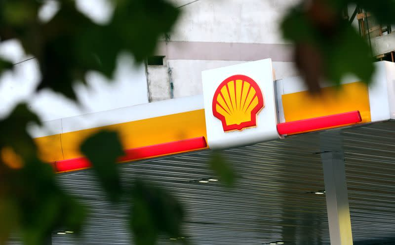 FILE PHOTO: A Shell logo is seen at a gas station in Buenos Aires