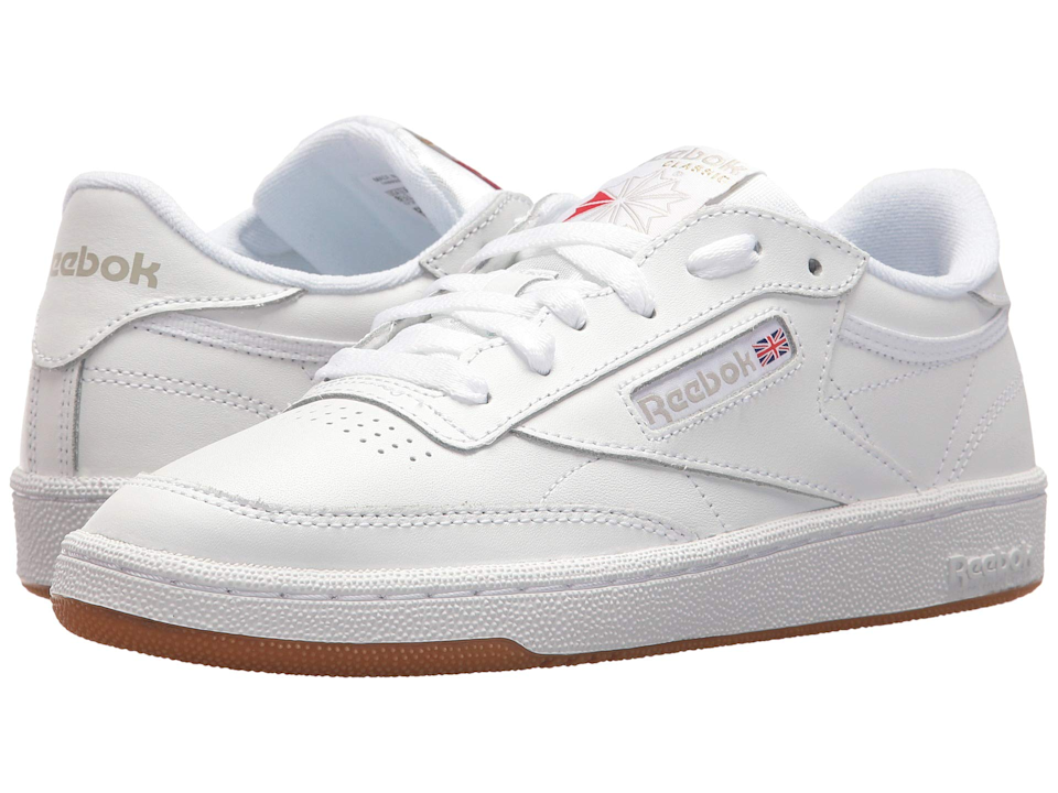 "<br><br><strong>Reebok</strong> Club C 85, $, available at <a href=""https://go.skimresources.com/?id=30283X879131&url=https%3A%2F%2Fwww.zappos.com%2Fp%2Freebok-lifestyle-club-c-85-white-light-grey-gum%2Fproduct%2F8978065%2Fcolor%2F666075"" rel=""nofollow noopener"" target=""_blank"" data-ylk=""slk:Zappos"" class=""link rapid-noclick-resp"">Zappos</a>"