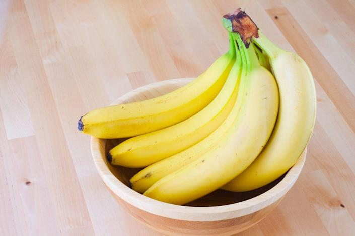 """<p>""""Bananas are a great source of fiber, vitamins and minerals including potassium and vitamin C,"""" says Sophie Matthews, specialist dietitian at <a href=""""https://www.thehospitalgroup.org/"""" rel=""""nofollow noopener"""" target=""""_blank"""" data-ylk=""""slk:The Hospital Group"""" class=""""link rapid-noclick-resp"""">The Hospital Group</a>. """"They also have a low glycemic index which can help to prevent peaks in blood sugar levels."""" If you need even more motivation to add bananas to your menu, check out all these <a href=""""https://www.prevention.com/food-nutrition/healthy-eating/a23083058/banana-health-benefits/"""" rel=""""nofollow noopener"""" target=""""_blank"""" data-ylk=""""slk:other health benefits"""" class=""""link rapid-noclick-resp"""">other health benefits</a> they carry.</p>"""