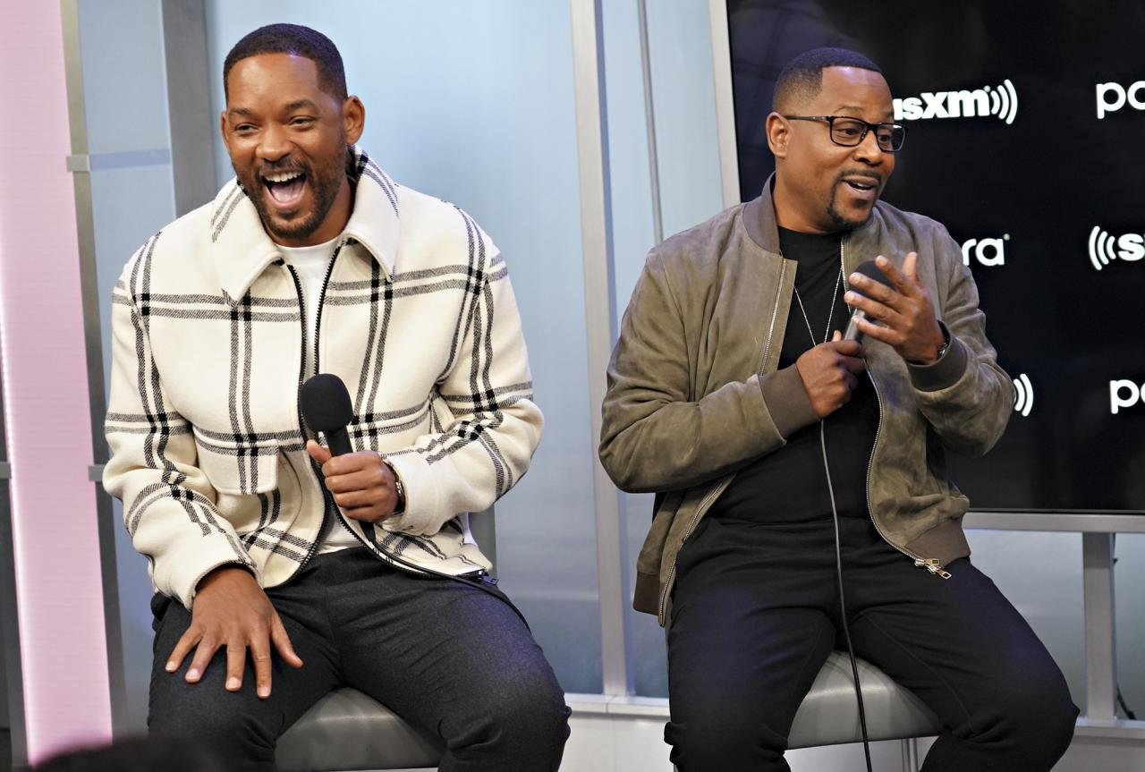 Will Smith and Martin Lawrence speak during SiriusXM's Town Hall for their film, <em>Bad Boys For Life</em> in N.Y.C. on Thursday.