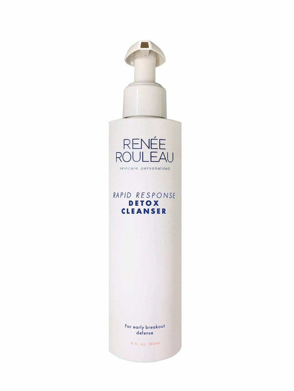 """<p>Some people might think the <span>Renee Rouleau Rapid Response Detox Cleanser</span> ($43) smells too """"medicinal,"""" but we think it smells like it works. Which, by the way, it does: we use it after spending too much time in our makeup, and it completely dissolves all dirt and gunk from pores - no breakouts in sight. It does come out a bright yellow shade (which, in truth, isn't pretty), but it's what's on the inside that counts.</p>"""