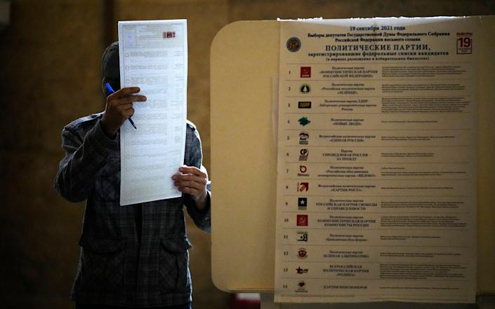 Voting in Russian parliamentary election ends on Sunday evening - Alexander Zemlianichenko/AP