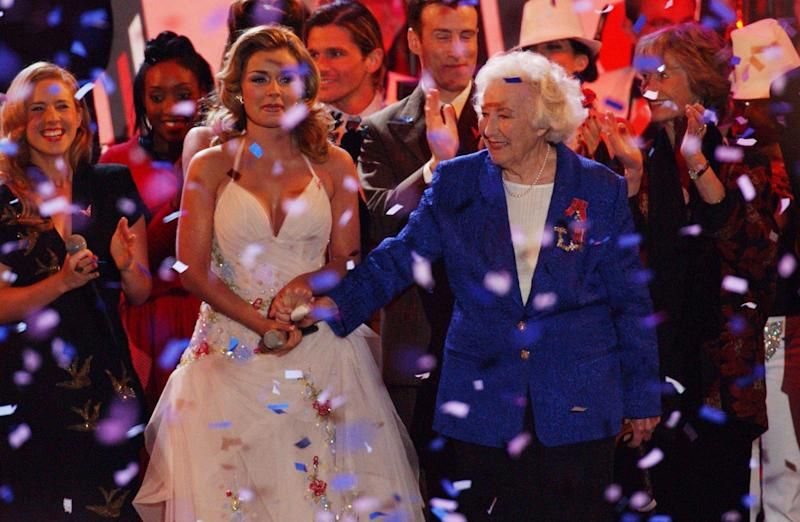 Singers Dame Vera Lynn and Katherine Jenkins.