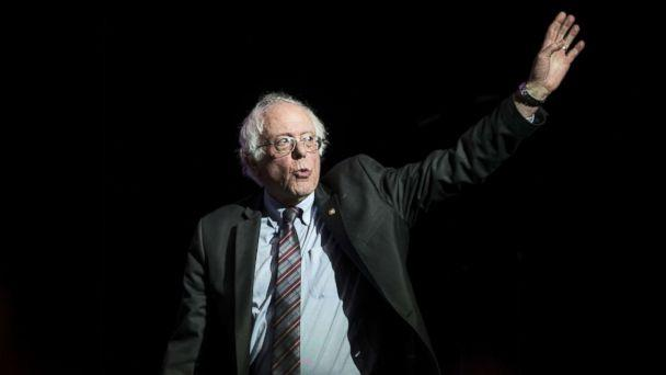 PHOTO: Former Presidential candidate Senator Bernie Sanders waves as he takes the stage at the Our Revolution Massachusetts Rally at the Orpheum Theater, March 31, 2017 in Boston. (Scott Eisen/Getty Images)