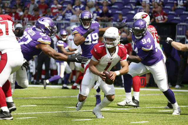Arizona Cardinals quarterback Kyler Murray faced the Vikings in his third preseason game. (AP)
