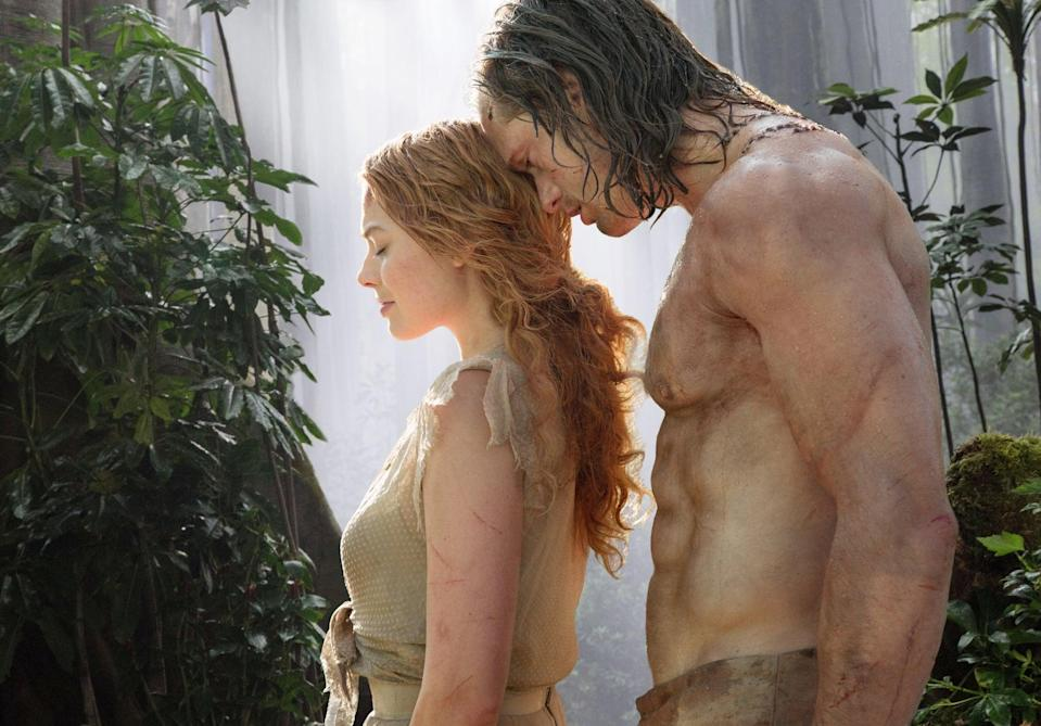 <p><strong>For Jane:</strong> A torn-up white or light yellow dress, smeared with dirt. Get yourself a wavy blond wig if you can, and paint a few scratches on your arms so it looks like you've been swinging through the jungle.</p> <p><strong>For Tarzan:</strong> A pair of dirty, khaki-colored pants, and . . . that's it.</p>