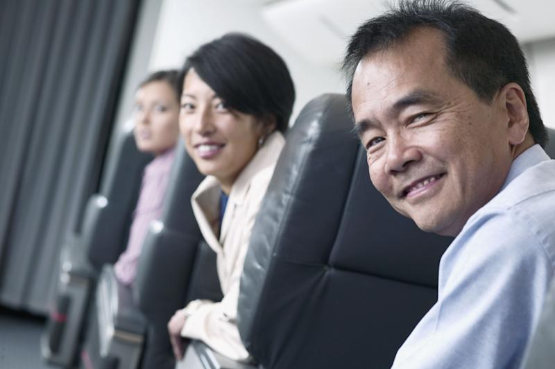 These folks are <em>loving</em> their seat assignments.